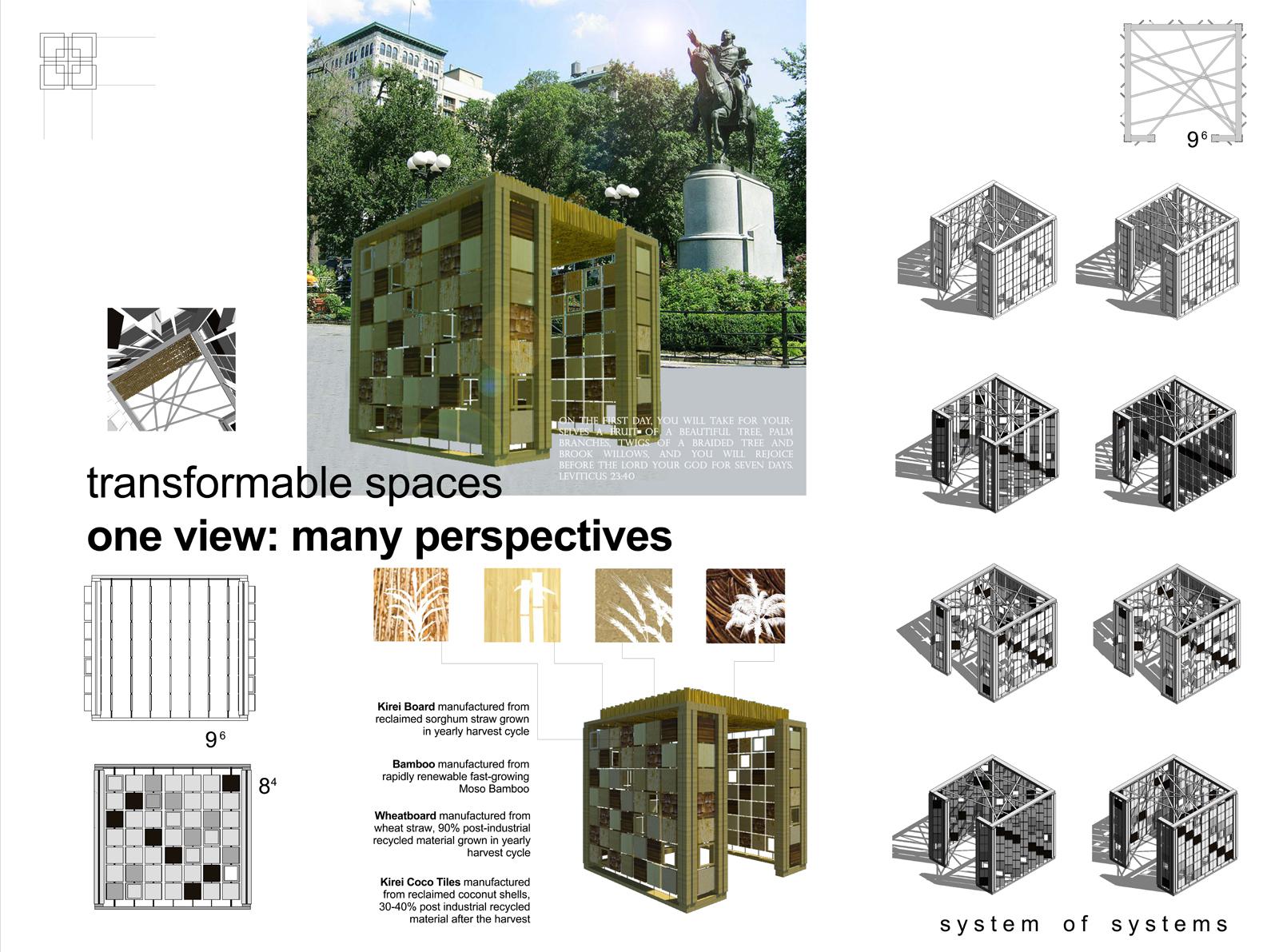 Sukkah City Transformable Spaces