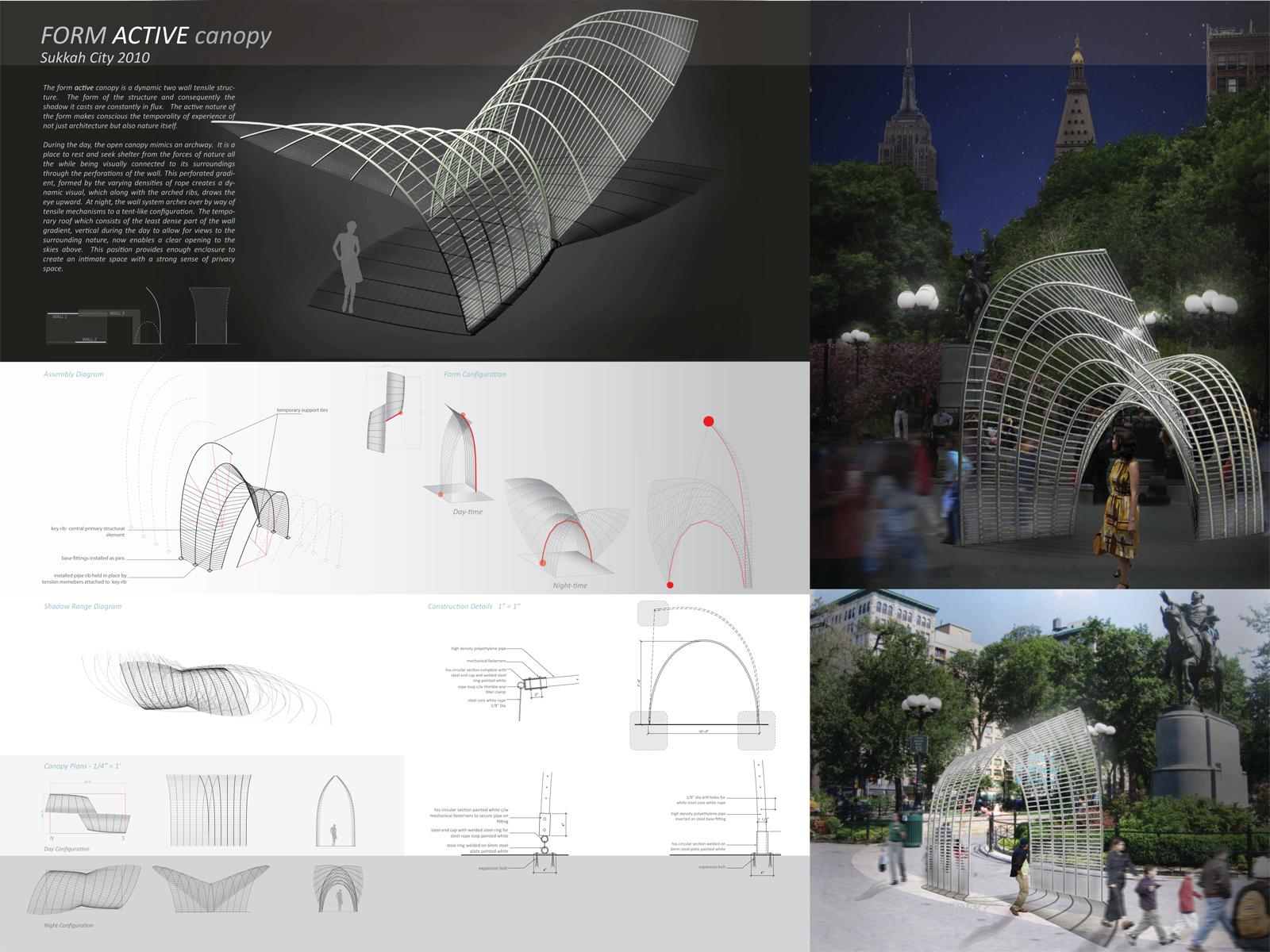Sukkah City: Form Active Canopy