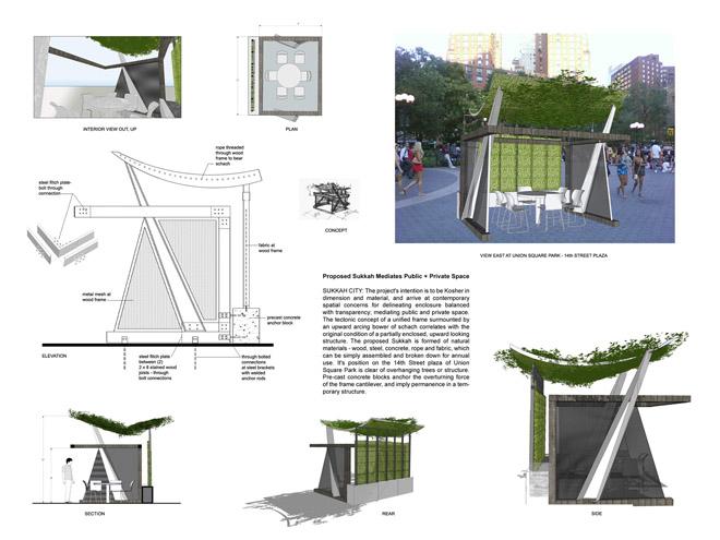 Sukkah City Proposed Sukkah Mediates Public Private Space